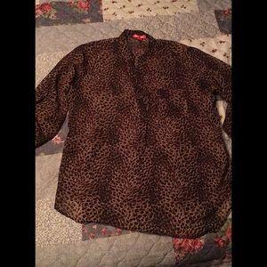 Leopard Print Dress Shirt